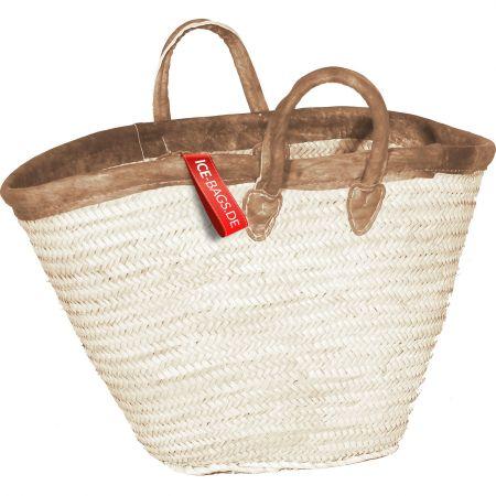 Witzgall Ibiza Strandtasche Beachbag 1041-20-0 mit kurzen Griffen und Lederrand