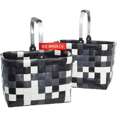 Witzgall Einkaufskorb Alu-Griff Premium Einkaufstasche ICE-BAG 5040-04 Kunststoff geflochten bunt ICE-BAGS.DE