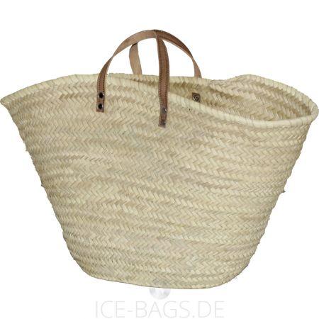 1098-20-0 Witzgall Ibiza-Tasche mit Ledergriffen natur Beachbag Strandtasche