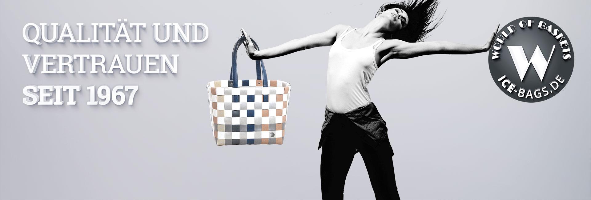 Witzgall Taschen Shopper ICE-BAG Korbwaren Einkaufskorb Einkaufstasche Markenshop