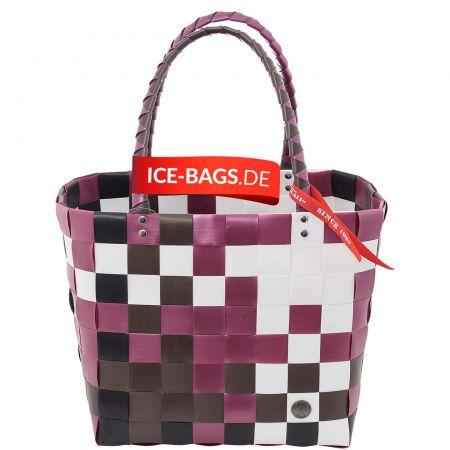 "5009-01 Ice-Bag Shopper ""Evergreen"" - World of Basket weinrot/braun"